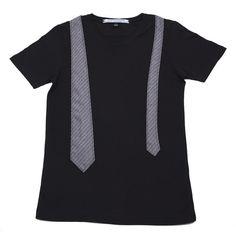 Mens Black Tie T-Shirt