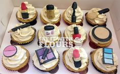 Cosmetic Make Up Cupcakes