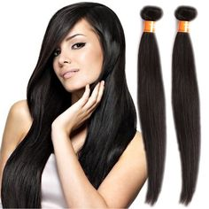 "10""-30""Hot INDIAN 6A 100g/pc human hair weft Extensions Silky Straight black  #WIGISS #HairExtension"