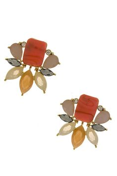 Touch of spring floral earrings I found this on www.rmcjewelry.com