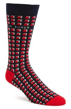 Ted Baker London Geometric Pattern Socks available at #Nordstrom