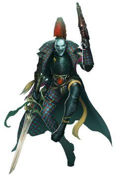 Masque of the Midnight Sorrow - Warhammer Eldar 40k, Dark Eldar, Warhammer 40k Art, Warhammer Fantasy, Character Concept, Character Art, Concept Art, Fantasy Warrior, Sci Fi Fantasy
