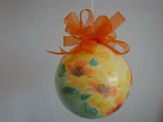 (Made by Susanne Elfrom Nguyen) Decoupage ornament.