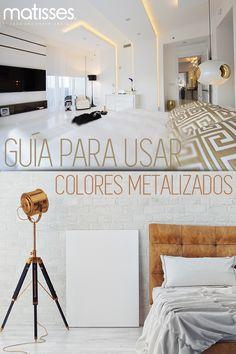Si deseas usar el #dorado en la #decoración del hogar, puedes utilizar decorativos como jarrones, lámparas o espejos.  Hoy en nuestro #BlogMatisses te compartimos una guía para usar los colores metalizados.