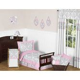 Found it at Wayfair - Pink and Gray Elizabeth Toddler Bedding Collection