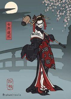 Harley Quinn Japanese - concubina - kimono.