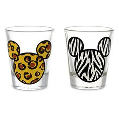 Mickey Mouse Animal Print Mini Glass Set