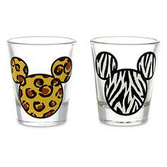 Mickey Mouse Animal Print Mini Glass Set