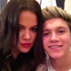 Niall and Khloe Kardashian *facepalm* Sorry I don't approve this ...... Her and her family are the most fake and spoiled people i have ever seen. You cant even describe their beauty until they take the 10 pounds of makeup off their face -_-