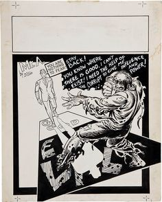 Original Mister A illustration by Steve Ditko from the back cover of Graphic Illusions #1, a fanzine published by Robert Gustaveson in 1971.