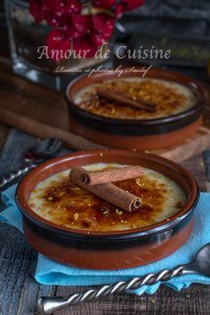 recette de la creme catalane Flan, Chili, Brick, Salad, Love, Food, Recipes, Pudding, Creme Brulee