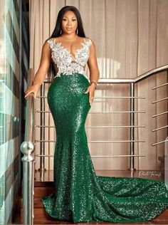 African Prom Dresses, African Dress, African Lace, African Wear, Lace Gown Styles, Long Sequin Dress, Short Gowns, Sexy Outfits, Chic Outfits