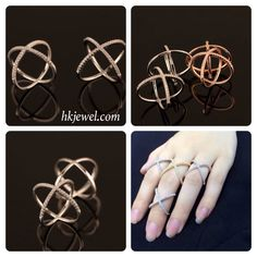 New arrival 925 silver ring with 3 colors! wants to have one? Contact us at sales@hkjewel.com or visit hkjewel.com