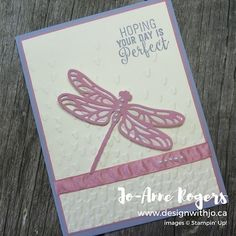 ThevDragonfly Dreams bundle makes it easy to create pretty spring cards  #designwithjo #stampinupcanada #rubberstamping #cardmakingideas #handmadecards #centralalbertacards #stampinupdemonstrator #friendcards #papercrafting #diycards