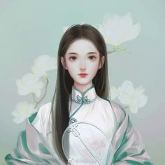 Chinese Picture, Chinese Style, Hanfu, Painting Of Girl, Silk Painting, Chinese Drawings, Pastel Artwork, Anime Couples Drawings, Lovely Creatures