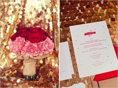 28 Red Pink And Sparkle Gold Wedding Color Palette Ideas Weddingomania Colors