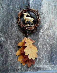 Stag Amulet Designed and Hand Made with Love by Rowan Duxbury. Find me on my : 'Positively Pagan Crafts ' Facebook page.