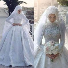 Here is Muslim Wedding Dresses Ideas for you. Muslim Wedding Dresses vintage high neck muslim wedding dresses 2019 with long Muslimah Wedding Dress, Muslim Wedding Dresses, Wedding Dresses 2018, Country Wedding Dresses, Cheap Wedding Dress, Bridal Dresses, Gown Wedding, Hijabi Wedding, Wedding Dress Gallery