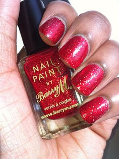 Barry M - Red Glitter