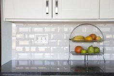 White beveled subway tile from lowes