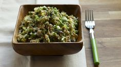 Farro Salad with Peas, Leeks and Pistachios