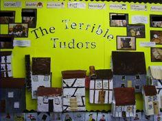 The Terrible Tudors classroom display photo - Photo gallery - SparkleBox Primary School Displays, Class Displays, Classroom Displays, Photo Displays, Ks2 Display, Visual Display, Display Ideas, Year 4 Classroom, History Classroom