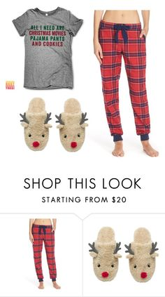 """Christmas PJs"" by mazapp on Polyvore featuring Make + Model"