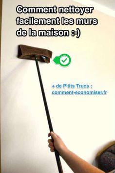Savez-vous seulement comment faire pour nettoyer les murs de la maison ? Non ? Et bien, pas de panique ! Voici toutes les réponses pour y remédier.  Découvrez l'astuce ici : http://www.comment-economiser.fr/astuce-facile-rapide-pour-nettoyer-murs-peints-sales.html?utm_content=buffer3b4fd&utm_medium=social&utm_source=pinterest.com&utm_campaign=buffer