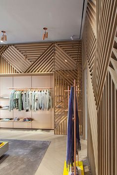 Herringbone Lattice at Missoni Store, Milan - by Urquiola