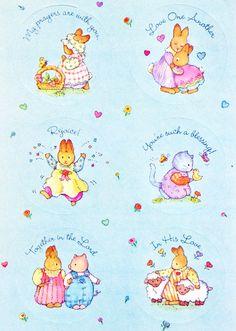 Current USA, Inc inspirational bunny & cat stickers