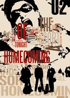 A Sort of Homecoming - u2 the song - collage Handmade Wall Decor. $28.00, via Etsy.