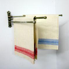 Vintage Folding Towel Rack by ConceptFurnishings on Etsy
