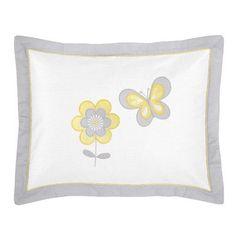 Sweet Jojo Designs Mod Garden Standard Pillow Sham