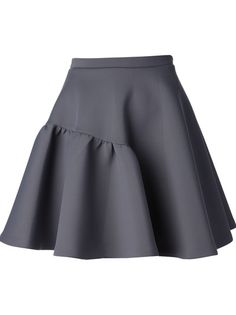 Staple closet piece - short grey skirt with cool detail and romantic flare.