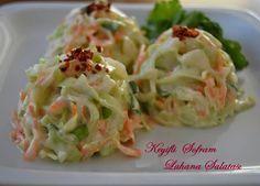 Lahana Salatası coleslaw ,bir çeşit meze et yemeklerinin yanında servis edebileceğiniz ,tavuk menülerin  den alışık olduğumuz bir ...