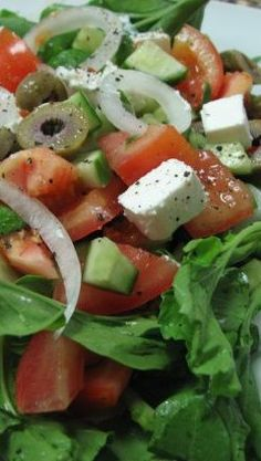 Greek Salad Recipe - Easy, elegant, simple & fantastic!