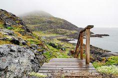 The Fogo Head trailhead, Fogo Island, Newfoundland