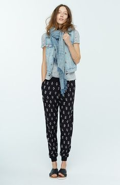 Free shipping and returns on Madewell Denim Vest, Linen Tee & Ikat Track Pants at Nordstrom.com.