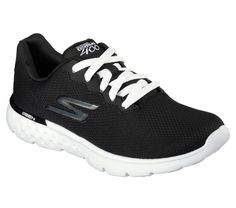 Keep your run light, comfortable and well cushioned with the Skechers GOrun 400 shoe. Goga Run insole provides shock absorption and support. Comfortable lightweight and well ventilated upper design. Skechers, Baskets, Workout Shoes, Easy Wear, Mesh Fabric, Courses, Running Women, Sports Women, Shoes Online