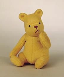 "RJW Dolls presents - Silly Old Bear.   7"" sitting, mohair, jointed arms, neck weighted with pellets. Date of Release: 1998-1999 720 Produced"