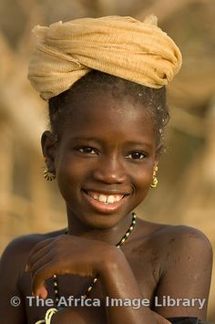 Photos and pictures of: Girl portrait, Matam, Senegal - The Africa Image Library Beautiful Smile, Black Is Beautiful, Beautiful People, Beautiful Beach, Precious Children, Beautiful Children, African Beauty, African Girl, African Babies