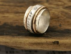 Spinner Ring with Personalization Children's by BelViaggioDesigns, $90.00