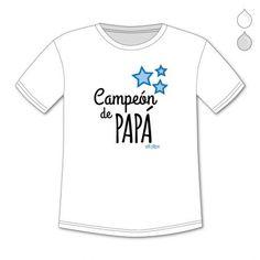 CAMISETAS PERSONALIZADAS NIÑ@S CAMPEÓN DE PAPÁ
