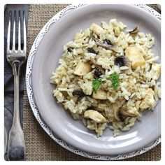 BARLEY RISOTTO WITH CHICKEN AND MUSHROOMS
