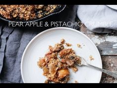 Learn how to make this delicious Pear Apple & Pistachio Crumble   vegan and gluten free on #nutritionstripped http://www.nutritionstripped.com/pear-apple-pistachio-crumble/?preview=true&preview_id=11373&preview_nonce=091efe94a0