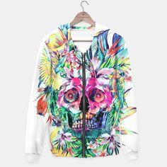 SKULL ISLAND #skull #watercolor #floral #digital #birds #womensweat #menswear #colurs #girls #tank #top #tshirts