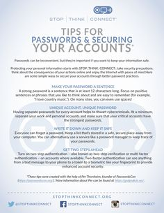 Tips for Passwords and Securing Your Accounts