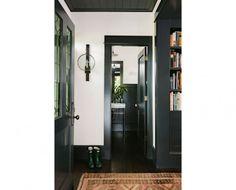 black doors and frames hallway jhinteriordesign.com