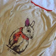 Cute bunny print long sleeve tee Adorable bunny long sleeve shirt  Sonoma Tops Tees - Long Sleeve