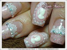 Bridal Nails by NailsPassionSG - Nail Art Gallery nailartgallery.nailsmag.com by Nails Magazine www.nailsmag.com #nailart
